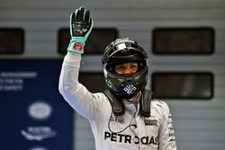 Nico Rosberg, Mercedes AMG F1 Team celebrates his pole position in parc ferme