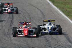 Sebastian Hohenthal battles with Alex Brundle