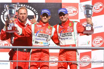GT2 podium: class winners Alvaro Barba Lopez and Niki Cadei