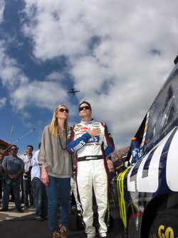 Jimmie Johnson, Hendrick Motorsports Chevrolet with his wife Chaundra