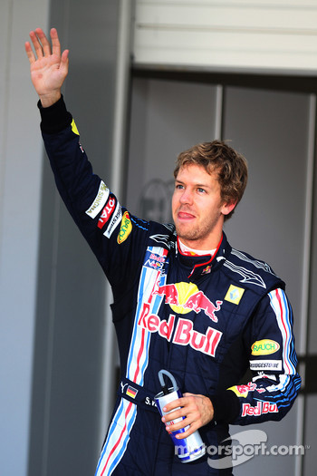 Pole position for Sebastian Vettel, Red Bull Racing