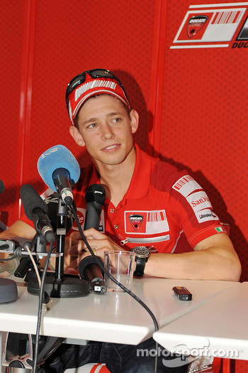 Ducati press conference with Casey Stoner, Ducati Marlboro Team