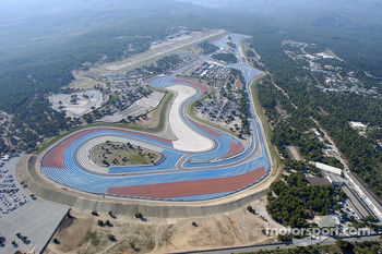 Aerial view of Circuit Paul Ricard