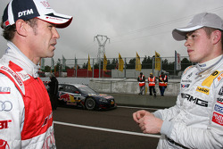 Tom Kristensen, Audi Sport Team Abt Sportsline Audi A4 DTM and Paul di Resta, Team HWA AMG Mercedes C-Klasse