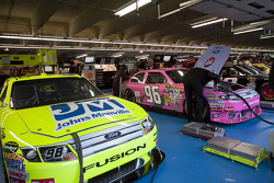 NASCAR Sprint Cup cars are prepared by teams