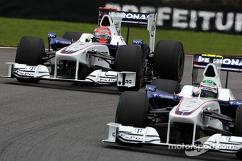 Robert Kubica, BMW Sauber F1 Team, Nick Heidfeld, BMW Sauber F1 Team