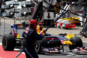 Mark Webber, Red Bull Racing, pitstop