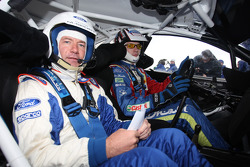Jari-Matti Latvala with former BBC Top Gear presenter Quentin Willson