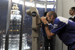 Visit of the Petronas Towers: Valentino Rossi