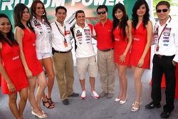 Randy De Puniet, LCR Honda MotoGP with girls and VIPs