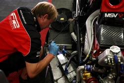 F2 mechanic at work