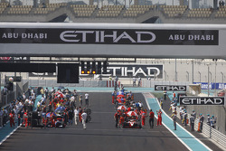 GP2 Asia cars on the grid before the start of the race