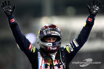 Race winner Sebastian Vettel, Red Bull Racing, celebrates