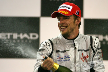 Podium: third place Jenson Button, Brawn GP