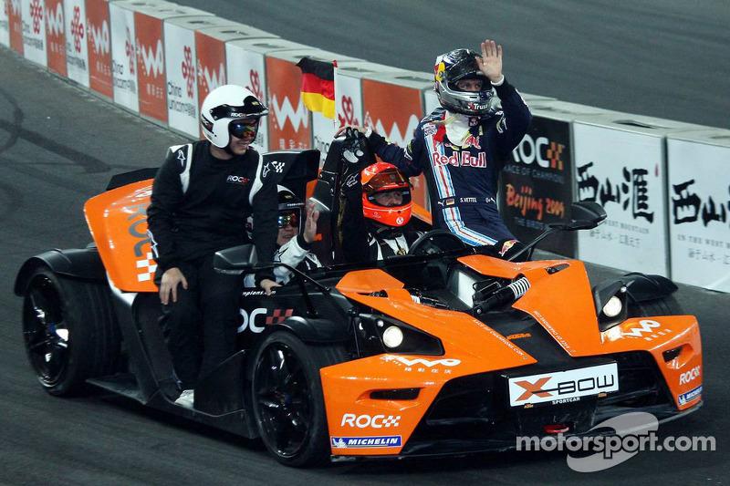 Semi final, race 2: Michael Schumacher and Sebastian Vettel
