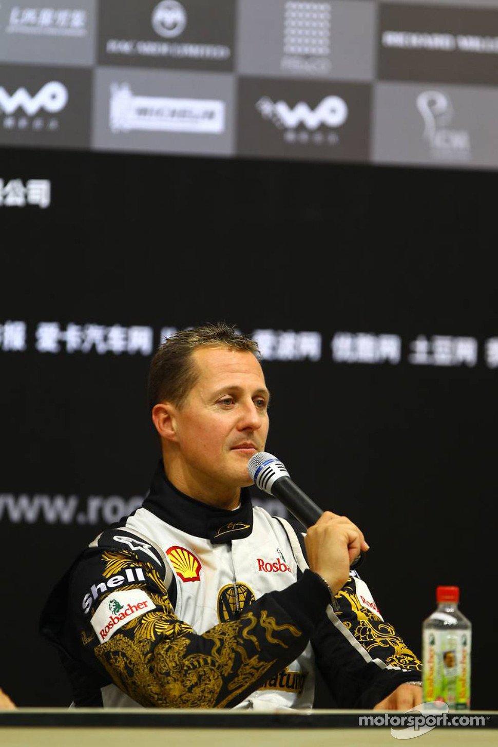 Press conference: Race of Champions second place Michael Schumacher