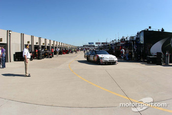 Garage area at Texas Motor Speedway