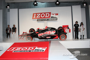 The IZOD IndyCar Series show car is presented