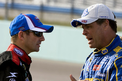 Marcos Ambrose, JTG Daugherty Racing Toyota and Michael Waltrip, Michael Waltrip Racing Toyota