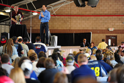 Jimmie Johnson, Hendrick Motorsports Chevrolet, during the Auto Club Speedway brunch in Fontana, California