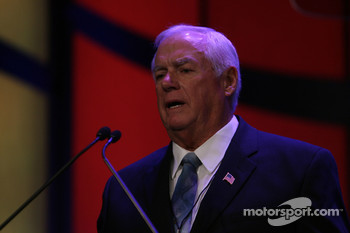 Myers Brothers Awards: Eight-time NASCAR Sprint Cup Series championship crew chief Dale Inman accepts the Buddy Shuman Award