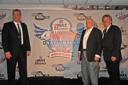 NHRA announcement with Tom Compton, NHRA, Bruton Smith and John Force