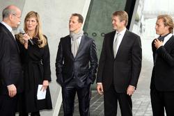 Dr. Dieter Zetsche, Michael Schumacher and Nico Rosberg