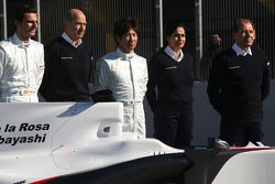 Pedro de la Rosa, BMW Sauber F1 Team, Peter Sauber, Team Principal, and Kamui Kobayashi, BMW Sauber F1 Team, Willy Rampf, BMW-Sauber, Technical Director