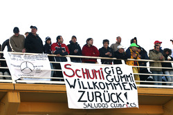 Fans of Michael Schumacher, Mercedes GP
