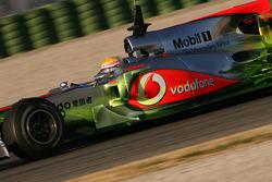 Lewis Hamilton, McLaren Mercedes. McLaren use aero paint