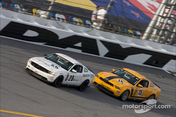 #29 Racers Edge Motorsports Mustang Boss 302R: Jade Buford, David Empringham, #15 Multimatic Motorsports Mustang Boss 302R: Joe Foster, Scott Maxwell