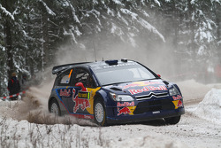 Kimi Raikkonen and Kaj Lindstrom, Citroën C4 WRC, Citroën Junior Team