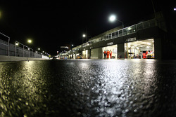 Early morning view down pit lane