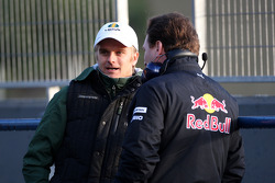 Heikki Kovalainen, Lotus F1 Team, Christian Horner, Red Bull Racing, Sporting Director
