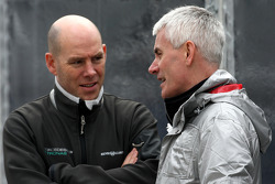 Jock Clear, Mercedes GP Petronas, Senior Race Engineer talks with Geoff Willis