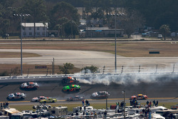 Mike Bliss and Trevor Bayne crash