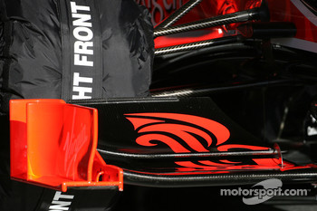 Virgin Racing, front wing detail