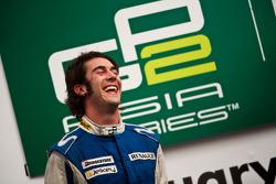 Giacomo Ricci celebrates on the podium
