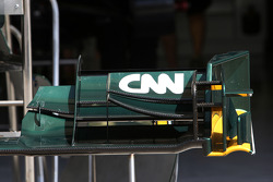CNN on the front wing of the Lotus
