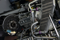 Brake system and engine detail, Renault F1 Team
