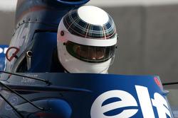 Sir Jackie Stewart, 1969, 1971, 1973 F1 World Champion drives the 1973 Tyrrell-Ford 006