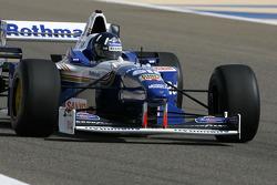 Damon Hill, 1996 F1 World Champion drives the 1996 Williams Renault FW18