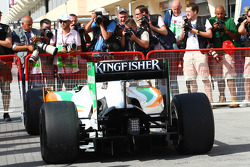 Adrian Sutil, Force India F1 Team rear diffuser and wing