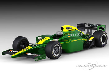 Rendering of the KV Racing Technology Lotus-Cosworth IndyCar