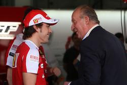 Fernando Alonso, Scuderia Ferrari, Juan Carlos I, King of Spain