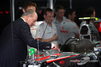 Juan Carlos I, King of Spain, Jenson Button, McLaren Mercedes