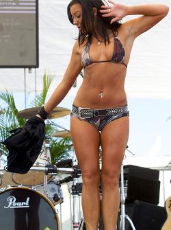The bikini contest in the party zone: a charming contestant