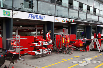 Race preparations, The garage of Ferrari