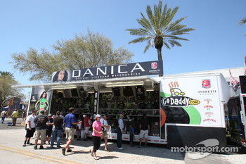 Merchandising hauler for Danica Patrick, Andretti Autosport