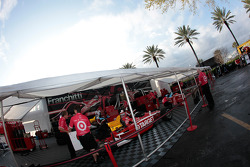 Target Chip Ganassi Racing paddock